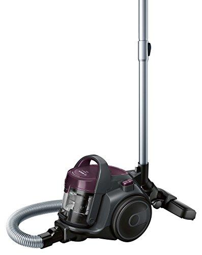 Bosch BGC05AAA1 GS05 Cleann'n Aspirador sin Bolsa, Diseño Ultra-Compacto, Filtro Hepa H12 Lavable, 700 W, 1.5 Litros, 78 Decibelios, Violeta y Grafito