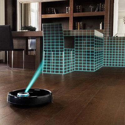 Abilieauty Auto Limpieza Robot Inteligente Barrido Aspiradora Suelo Suciedad Polvo Cabello Clean para Hogar Negro