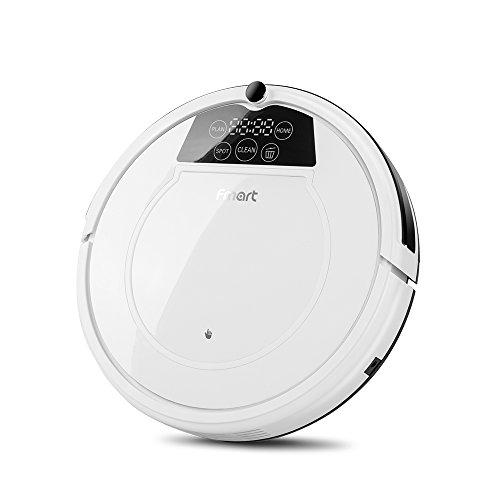 Fmart 800Pa Robot Aspirador de Limpieza, Carga automática, Limpieza húmeda y Seca, Limpieza automática, Limpieza de Cabello de Mascotas y Pelo de Humano Robot Inteligente Aspirador E-550W(S)
