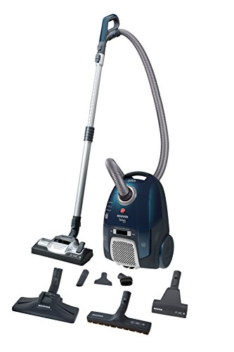 Hoover Telios Extra TX60PET - Aspirador trineo con bolsa, con accesorios especiales para parquet y mascotas, 450 W, color azul