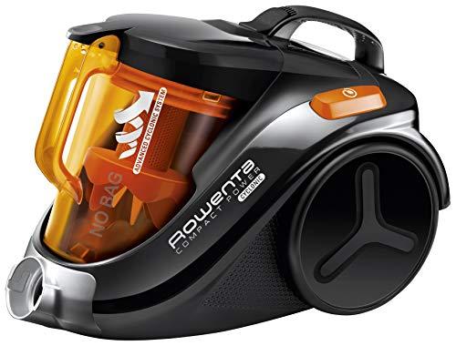 Rowenta Compact Power Cyclonic RO3753EA - Aspirador sin bolsa, etiqueta energética AAA, sistema ciclónico, depósito 1.5 l, cepillo parquet y boquilla 2 en 1 para ranuras, 79 dB A, fácil de limpiar