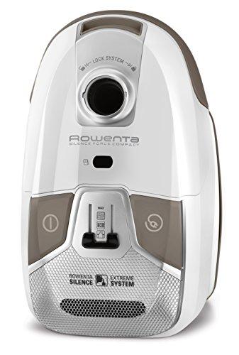 Rowenta Silence Force Compact RO6327EA - Aspirador etiqueta energética, bolsa triple filtración 3.5 L con cepillo parquet con dos posiciones y ranuras, tubo telescópico, bajo nivel de ruido 68 dB