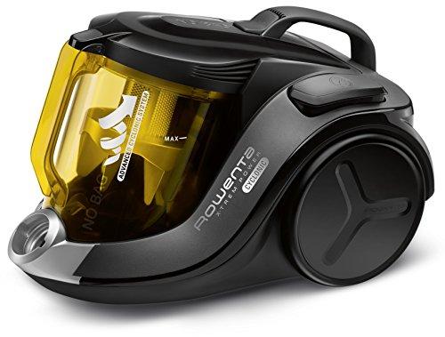 Rowenta X-Trem Power Cyclonic Aspirador, filtración de aire y suciedad, eficiencia energética A 750 W, 2.5 litros, 75 Decibeles, Amarillo