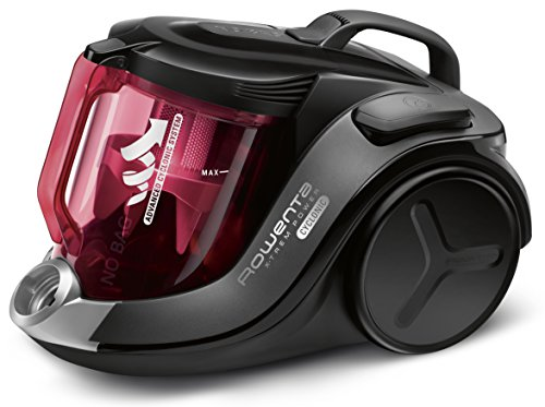 Rowenta X-Trem Power RO6963EA - Aspirador 4A, ciclónico sin bolsa, depósito 2.5 L, boquilla ranuras XXL, cepillo tapicería, mini turbo brush, tubo telescópico, nivel de ruido 75 dB con accesorios