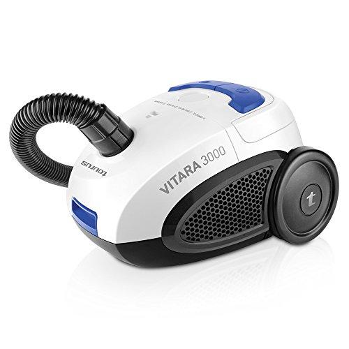 Taurus NEW-948.129 Vitara 3000 New-Aspiradora con Bolsa (diseño Compacto, Sistema Energy Eco, Filtro Lavable, Capacidad 2 l), Blanco, Azul y Negro, 700 W, 2 litros, 80 Decibeles