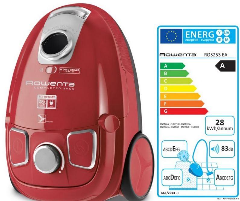 Eficiencia energética de las aspiradoras