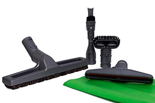Kit de 4 Cepillos para aspiradoras Dyson: Cepillo de cerdas, Cepillo rígido, Accesorio para colchones, Accesorio combinable 2-en-1. Producto genuino de Green Label