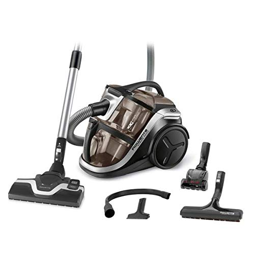 Rowenta Silence Force Multi RO8388EA Aspirador sin bolsa multiciclónico, silencioso, fácil de limpiar, vaciar y almacenar, incluye con accesorios para coche/hogar, diseño compacto, Motor EffiTech