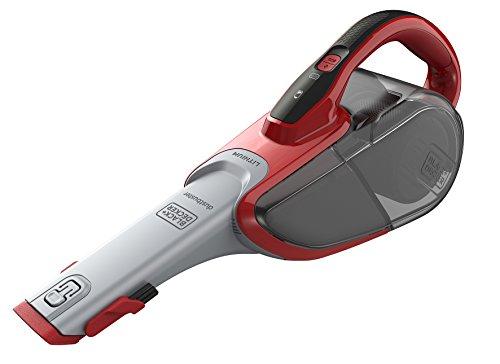 Black & Decker DVJ315J 50057XDVJ3-Recogetodo ciclónico inalámbrico (10.8 V, Capacidad 610 ml, tecnología de Carga Eco Inteligente, 11-18 W), 0.61 litros, De plástico, Gris y Rojo