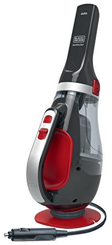 Black+Decker ADV1200 Aspirador de Mano Potente para Coche, ciclónico, 12 V, Gris y Rojo
