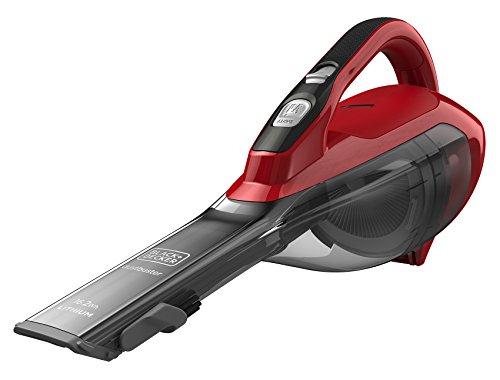 Black+Decker DVA315J Dustbuster - Aspirador de Mano Ciclónico Inalámbrico 15 W, Gris y Rojo