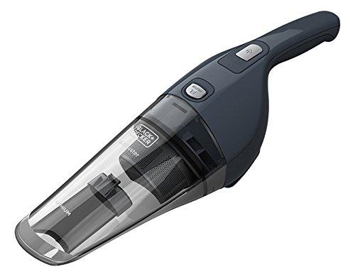 Black+Decker NVB-215-WA Aspirador de Mano ciclónico inalámbrico, batería de Litio, sólidos, 7.2 V, 11 W, 0.37 litros, 11 Decibelios, Gris
