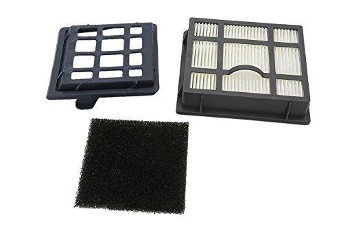 Kit de Filtros (Filtro HEPA, Filtro de espuma, Filtro con marco) para las aspiradoras AEG, Electrolux, Tornado, Volta de la serie T8. Reemplaza a AEF 104, EF 104, F104. Producto genuino de Green Label