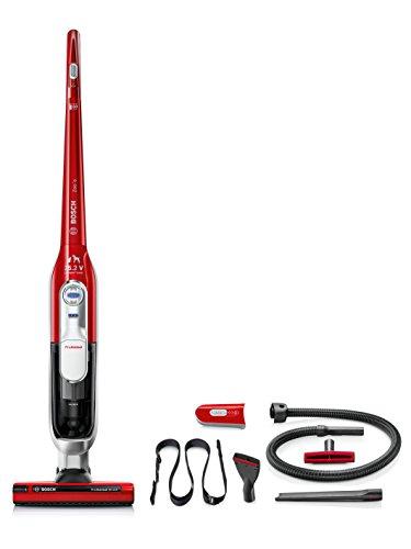 Bosch BCH6ZOOO Zoo'o ProAnimal - Aspirador escoba + kit de accesorios ProAnimal (cepillo especial mascotas, tecnología SensorBagless, batería ion-litio de 25,2 V), color rojo