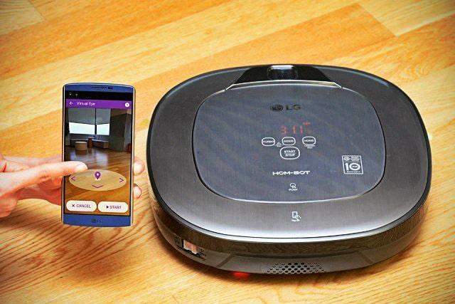 sensores en Aspirador LG Robot
