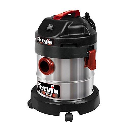Cevik CE-PRO20X Aspirador sólidos y líquidos, 1250 W, 230 V, Gris metalizado