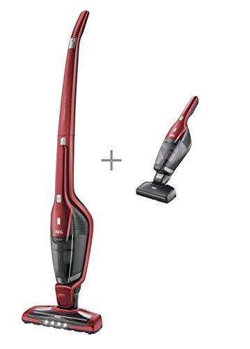 Aspiradora AEG CX7-2-45AN Aspiradora Escoba Vertical Sin Cable y de Mano Esp, 18 W, 0.5 litros, 79 Decibelios, 2 Velocidades, Rojo